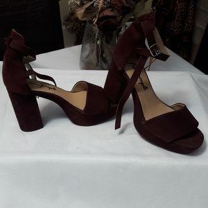 NWOT Free people chunky heels